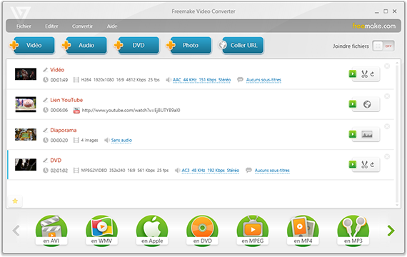 Freemake Video converter tutoriel et astuces - Joindre des vidéos