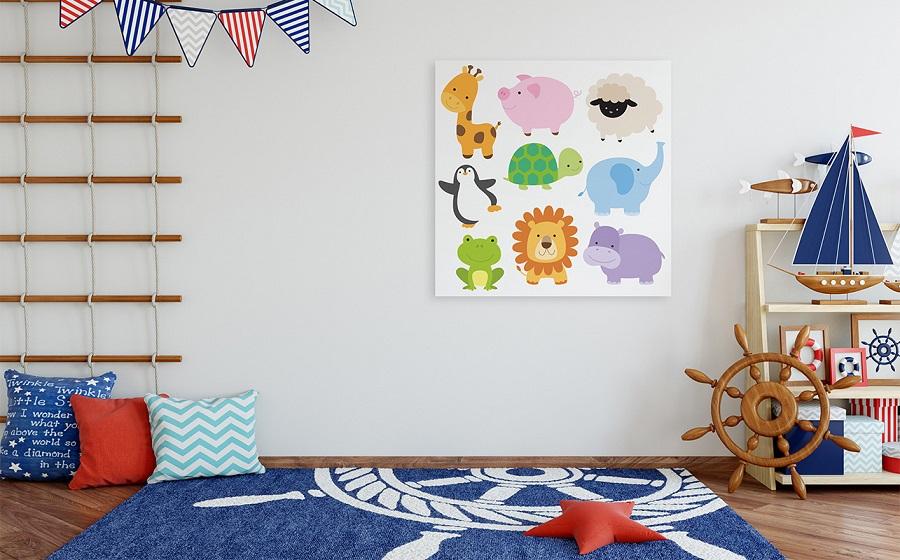Idée déco de chambre d'enfants le thème des images d'animaux - 3