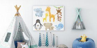 Idée déco de chambre d'enfants le thème des images d'animaux