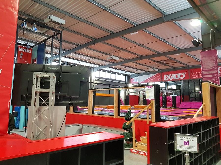 Salle de jeu pour enfants Exalto - Test et avis - Partie trampolines principale