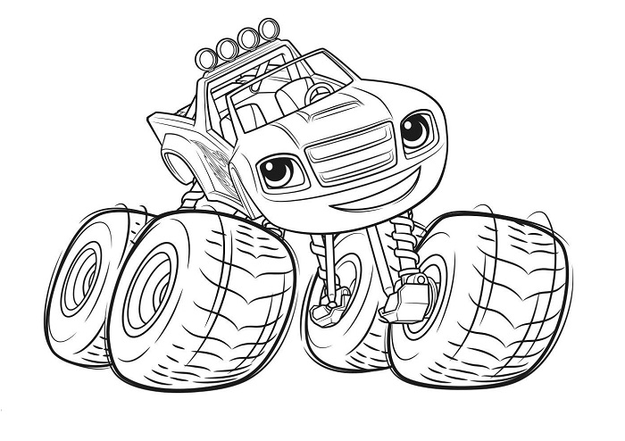 Coloriages Blaze et les Monster Machines - Blaze