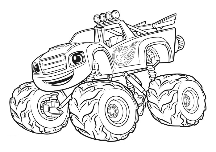 Coloriages Blaze et les Monster Machines - Coloriage Blaze 2