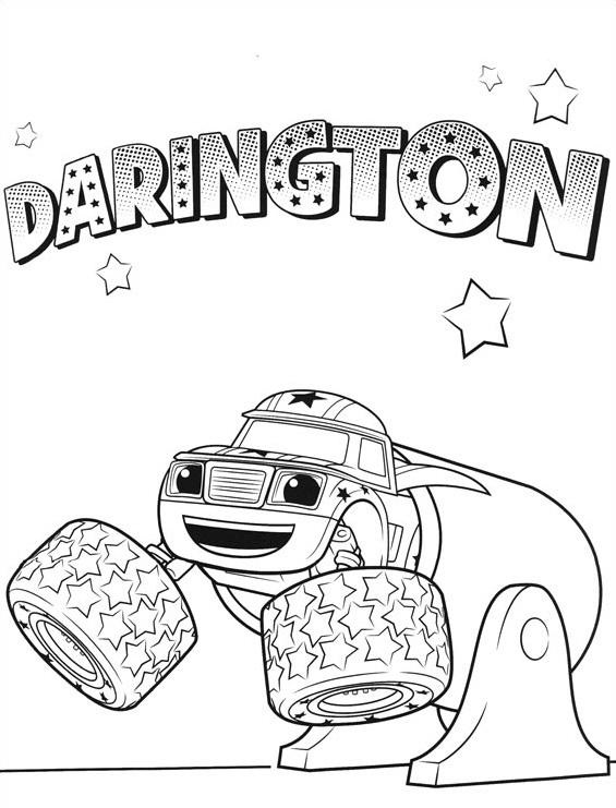 Coloriages Blaze et les Monster Machines - Coloriage Darington 2