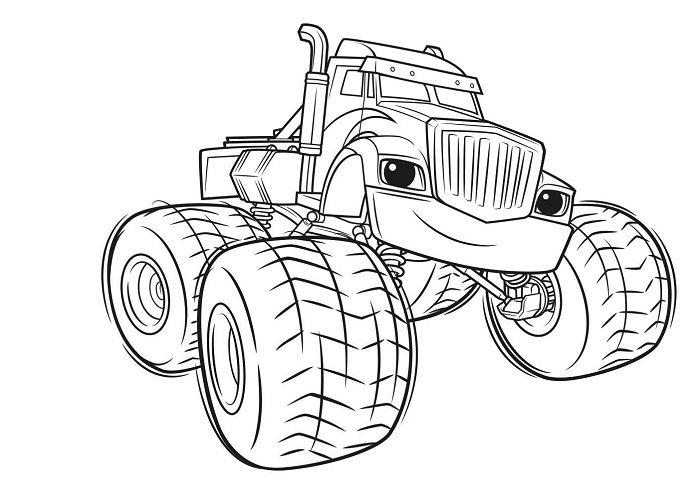Coloriages Blaze et les Monster Machines - Crusher