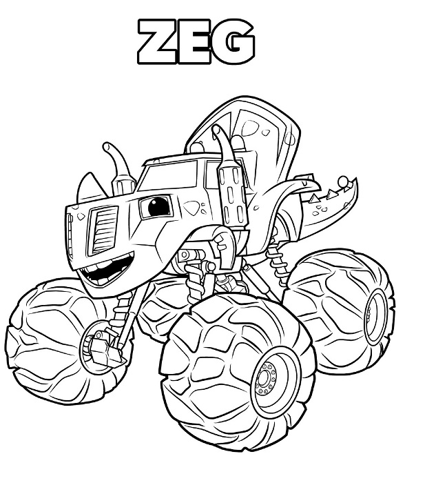 Coloriages Blaze et les Monster Machines - Zeg