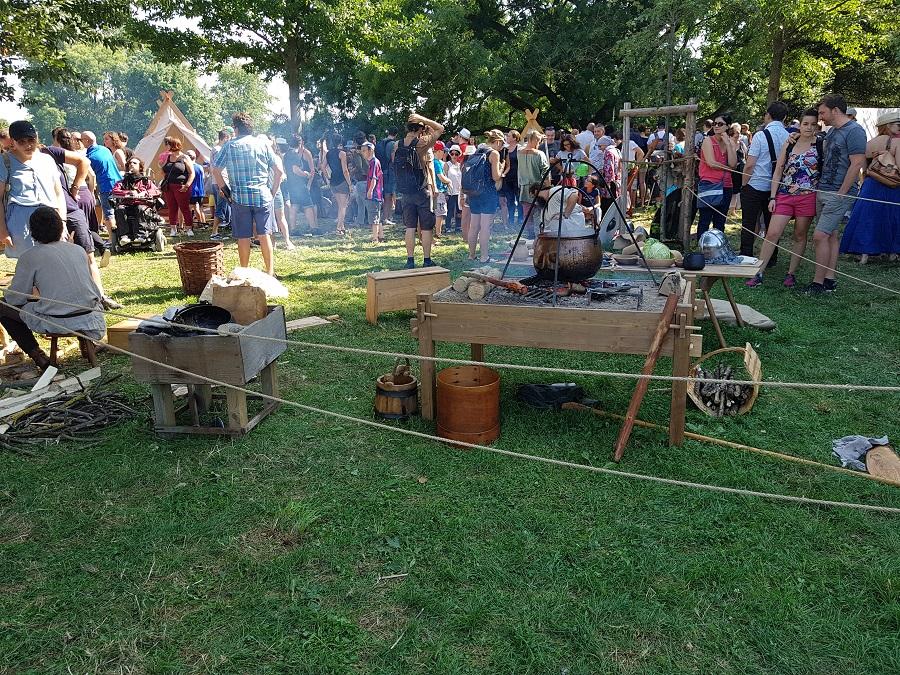 Campement viking à Lyon - Le centre du campement