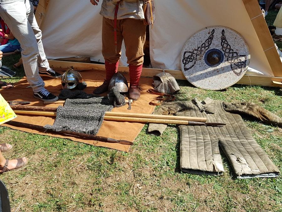 Campement viking à Lyon - Présentation d'équipement