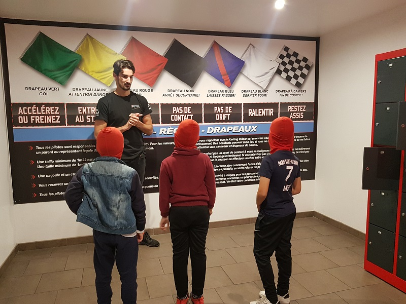 Briefing karting électrique