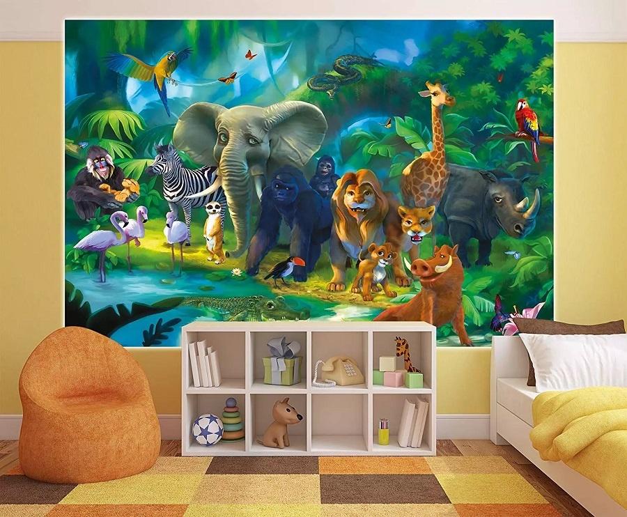 Decoration chambre enfants thème animaux